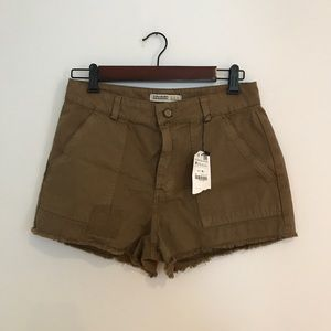 Zara Brown Denim Shorts